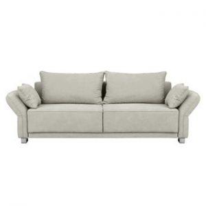 Canapea extensibilă cu 3 locuri și spațiu de depozitare Windsor & Co Sofas Casiopeia, bej