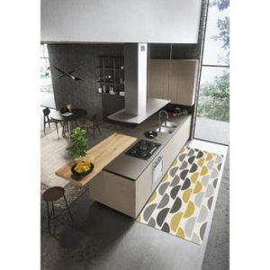 Covor Floorita Halfmoon Grey Ochre, 60 x 240 cm
