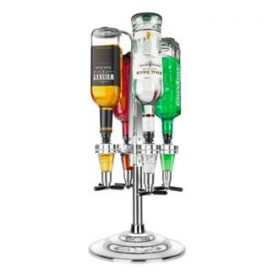 Suport pentru 4 sticle de vin cu LED Original Products