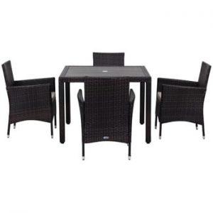 Set de mobilier pentru grădină Safavieh Amalfi, negru