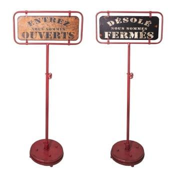Set 2 plăcuțe decorative Antic Line Panneau Ouvert Ferme