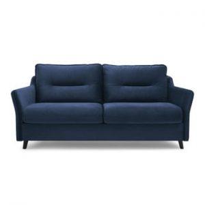 Canapea extensibilă cu 3 locuri Bobochic Paris Loft, albastru marin