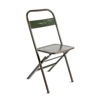 Scaun pliabil din metal cu patină RGE Mash, verde