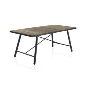 Masă din lemn cu picioare metalice Geese Capri, 150x90cm