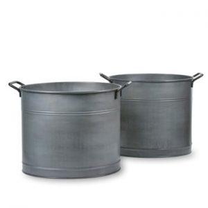 Set 2 coșuri metalice Garden Trading Buckets