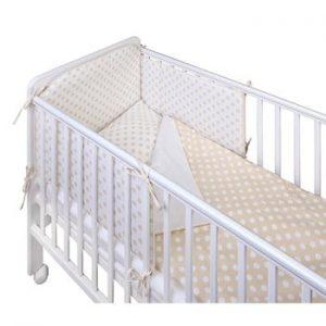 Protecție grilaj pat pentru bebeluși YappyKids Bumper Dot 60 x 60 cm