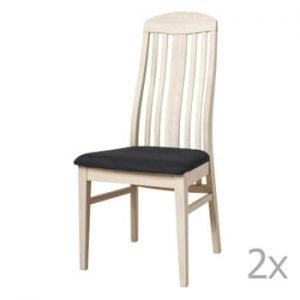 Set 2 scaune tapițate din lemn de stejar Furnhouse Heidi