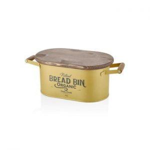 Cutie pentru pâine The Mia Bread, lungime 48 cm, auriu