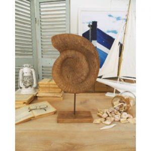 Decorațiune din lemn de mango Orchidea Milano Conchiglia, înălțime 50 cm