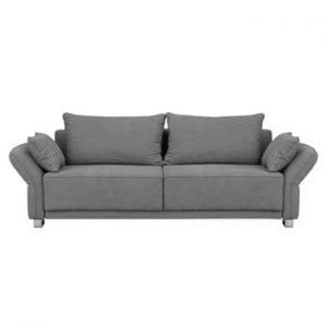 Canapea extensibilă cu 3 locuri și spațiu de depozitare Windsor & Co Sofas Casiopeia, gri deschis