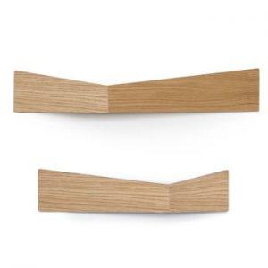 Set 2 polițe de perete Woodendot Pelican Oak M+L