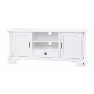 Comodă TV din lemn Folke Mozart Figaro, lungime 152 cm, alb