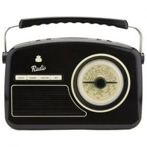 Radio GPO Rydell Nostalgic Dab Radio Black, negru