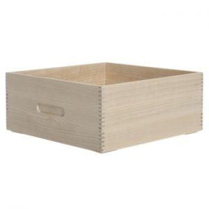 Cutie din lemn pentru pâine Iris Hantverk Birch, 31 x 31 x 12,4 cm
