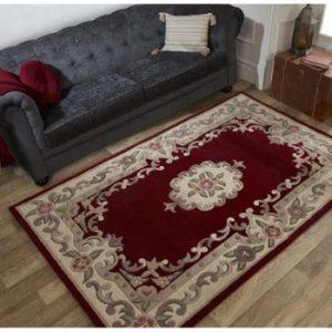 Covor din lână Flair Rugs Aubusson Red, 75 x 150 cm