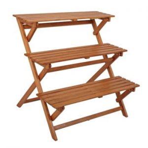 Suport din lemn de eucalipt pentru ghivece ADDU Ordeble