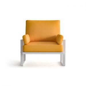 Fotoliu pentru exterior cu cotiere și picioare în nuanță deschisă Marie Claire Home Angie, galben