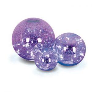 Set 3 globuri decorative din sticlă Naeve, mov