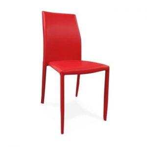 Scaun cu husă din piele ecologică Evergreen House Faux, roșu