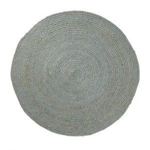 Covor din iută La Forma Dip, Ø 100 cm, albastru