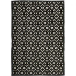 Covor potrivit pentru exterior Safavieh Gwen Black, 230 x 160 cm