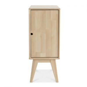 Noptieră fabricată manual din lemn de mesteacăn Kiteen Notte