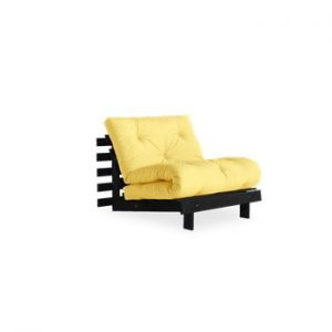 Fotoliu extensibil Karup Design Roots Black/Yellow, galben deschis