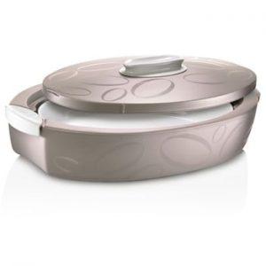 Cutie termică ovală cu vas de coacere Enjoy, 4 l, maro