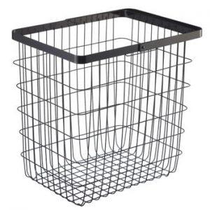 Coș de rufe YAMAZAKI Tower Laundry Basket, înălțime 39 cm, negru
