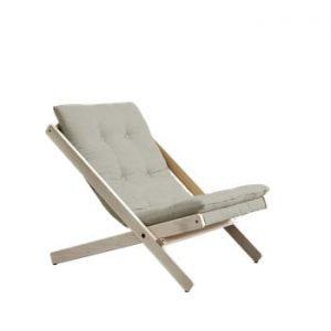Scaun pliabil din lemn de fag Karup Design Boogie Light Grey, 60 x 115 cm, gri