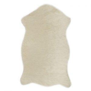 Covor din blană artificială Dione, 100 x 75 cm, crem