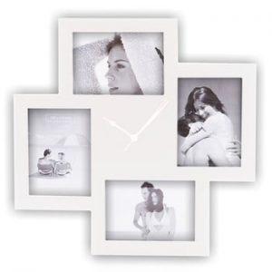 Ceas de perete cu ramă foto Tomasucci Collage, alb