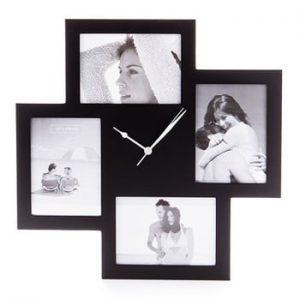 Ceas de perete cu rame foto Tomasucci Collage, negru