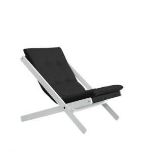 Fotoliu pliant Karup Design Boogie White/Grey