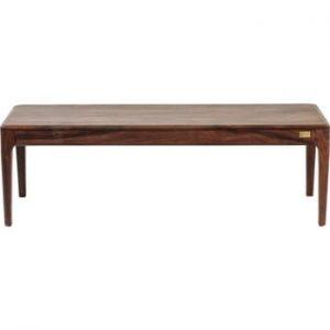 Bancă din lemn Kare Design Brooklyn Walnut, 140 cm