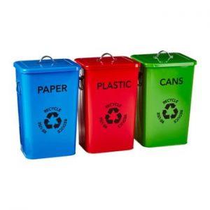 Set 3 coșuri pentru reciclare Premier Housewares Recycle Bins