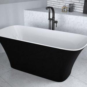 Cada frestanding Besco Assos alb negru 160x70cm