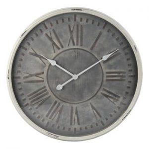 Ceas de perete Clayre & Eef Gris, ⌀ 60 cm