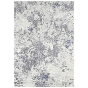 Covor Elle Decor Arty Fontaine, 80 x 150 cm, crem - albastru deschis