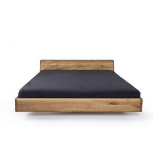 Pat din lemn de stejar tratat cu ceară Mazzivo Lugo, 120x200cm