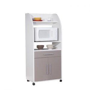 Sistem depozitare pe roți pentru bucătărie, cu rafturi Symbiosis Jeanne, gri