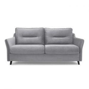 Canapea extensibilă cu 3 locuri Bobochic Paris Loft, gri deschis