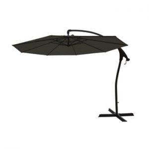 Umbrelă laterală de grădină Hartman Tenero, ø 3 m, negru