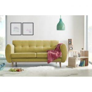 Canapea cu 3 locuri Bobochic Paris Viking, galben