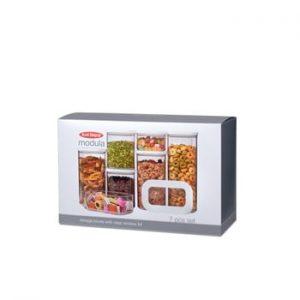Set 7 cutii pentru depozitare alimente Rosti Mepal Modula Starter