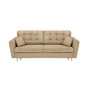 Canapea extensibilă cu 3 locuri și spațiu pentru depozitare Cosmopolitan Design Grenoble, bej