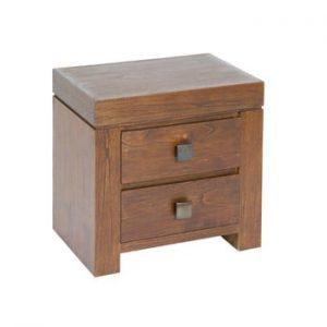 Noptieră cu 2 sertare din lemn mindi Santiago Pons Pietro