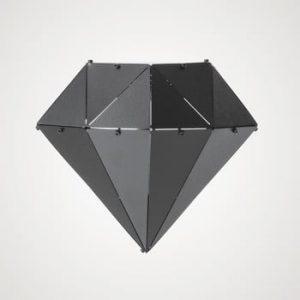 Decorațiune din metal pentru interior / exterior Geo Dimant