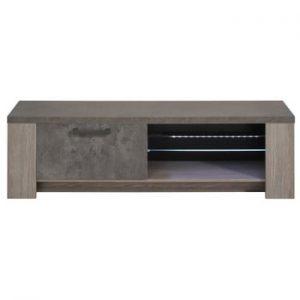 Măsuţă TV Parisot Roye, aspect lemn de stejar şi beton