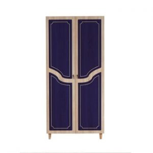 Dulap cu 2 uși Stil Retro Blue, 90 x 192 cm